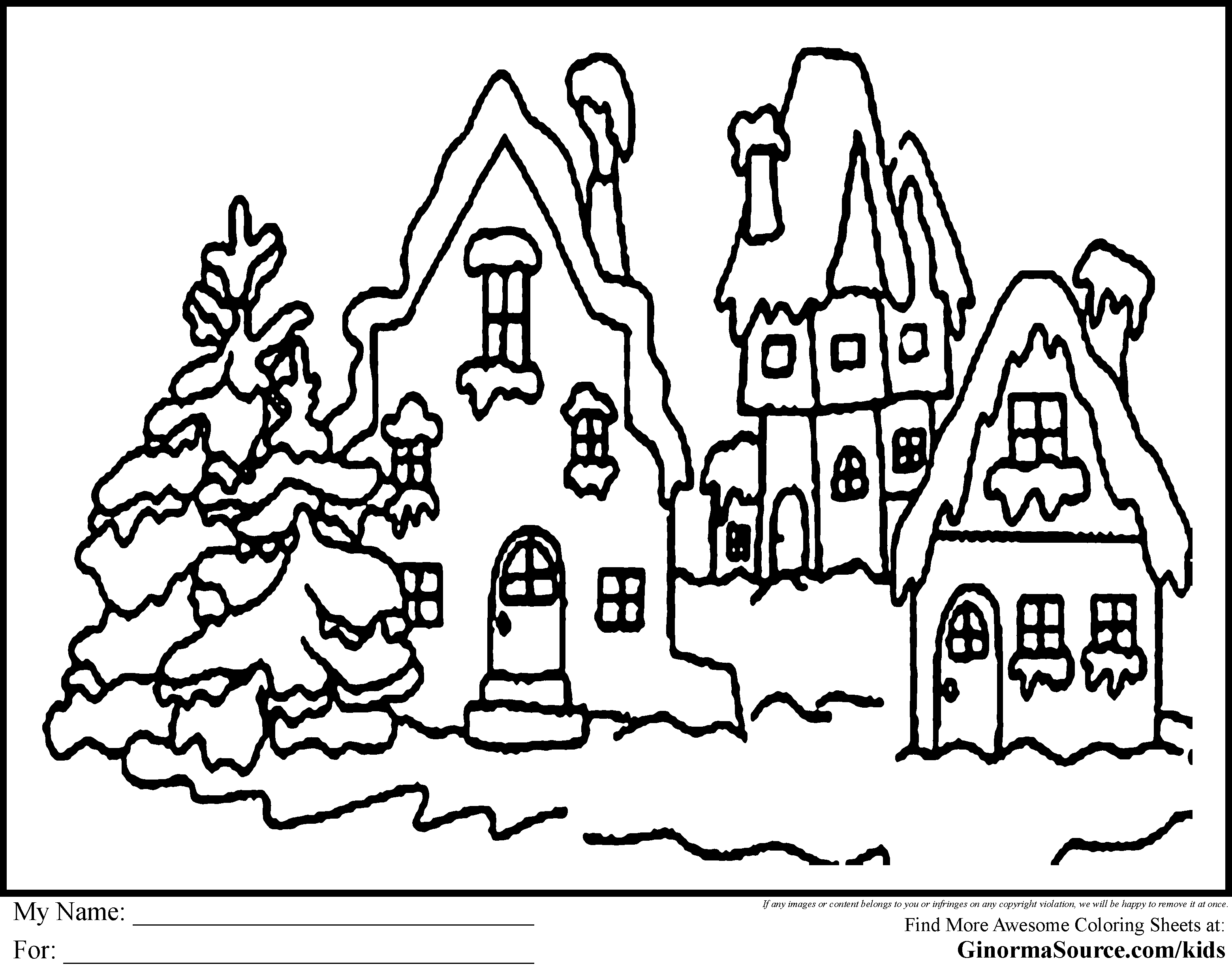 3120x2455 Christmas Village Coloring Pages Gallery Coloring For Kids
