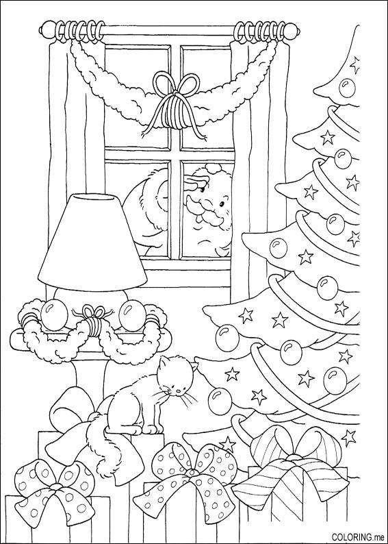 567x794 Christmas Village Coloring Pages