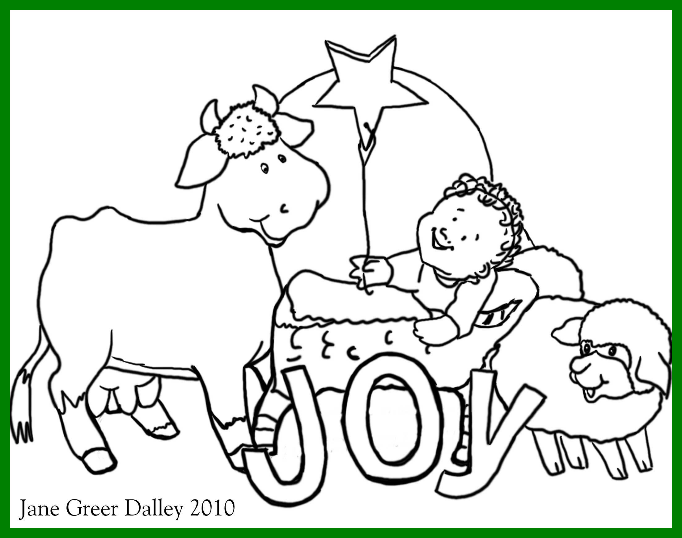 2207x1743 Marvelous Christmas Coloring Page For Printable Village