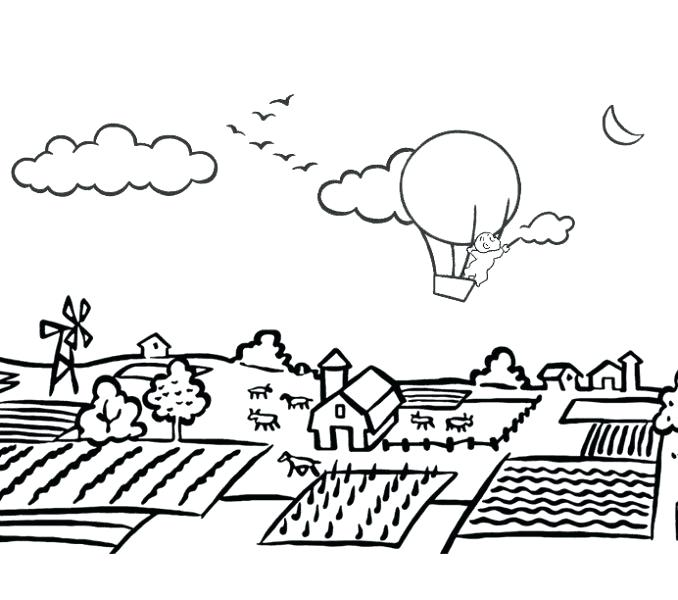678x600 Village Coloring Page Village Colouring Pages Village Coloring