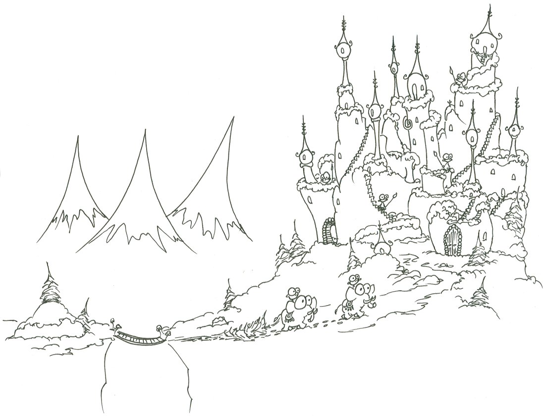 1100x844 Coloring Pages Monkeys Bringing A Christmas Tree To Their Castle