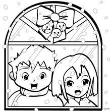220x220 Christmas Village Coloring Pages