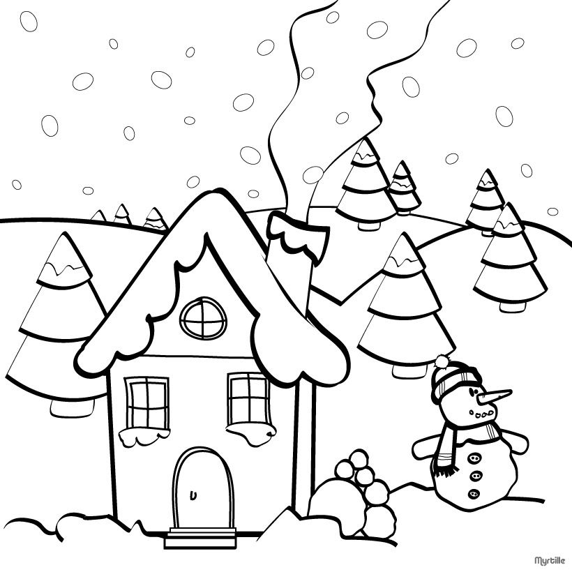 820x820 Christmas Coloring Pages Christmas Village Coloring Pages