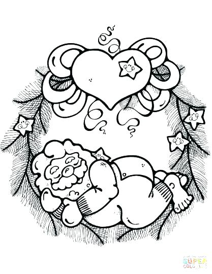 417x540 Christmas Wreath Coloring Pages Wreath Coloring Pages Wreath