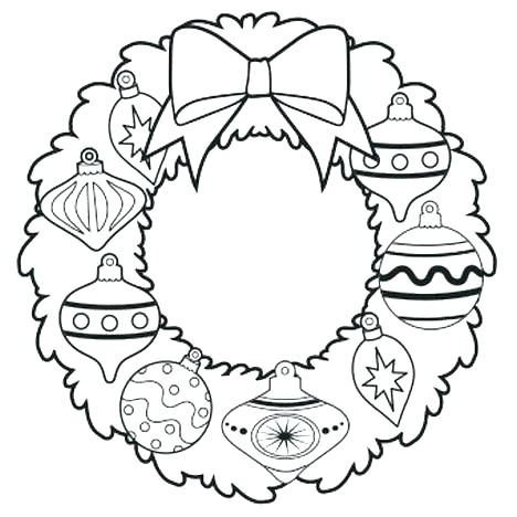 468x468 Wreath Coloring Page Wreath Coloring Wreath Coloring Pages Wreath