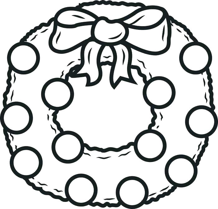 700x671 Wreath Coloring Wreath Coloring Page Coloring Pages Wreath