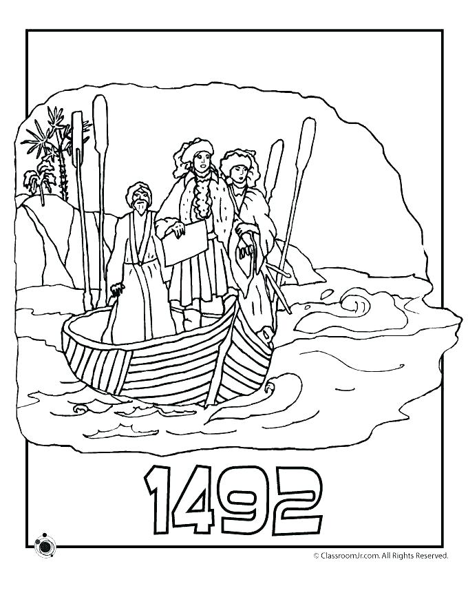 Christopher Columbus Ships Coloring Pages At Getdrawings Com