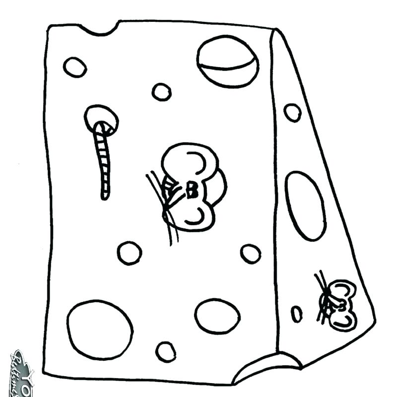 794x800 Cheese Coloring Page