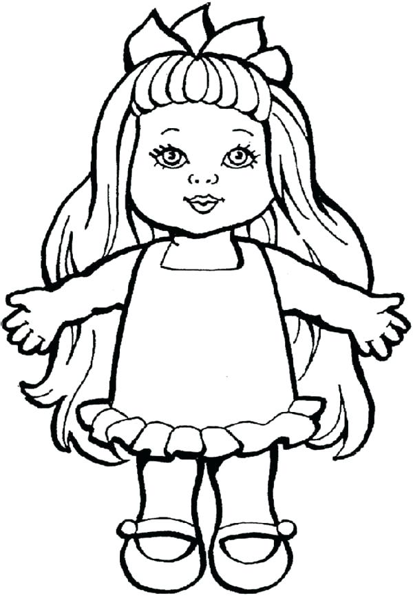 600x865 Marvellous Doll Coloring Page Fair Doll Coloring Pages Marvellous