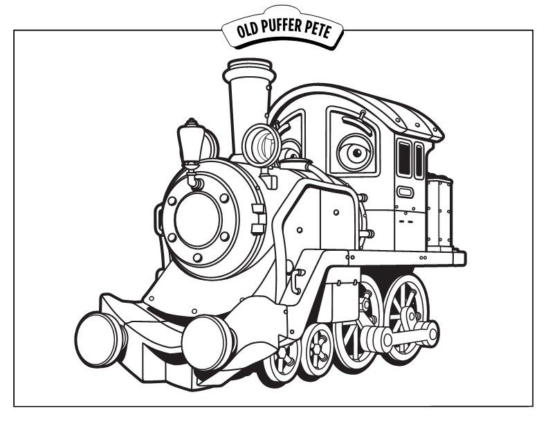 792x612 Chuggington Trains Coloring Pages Old Puffer Pete