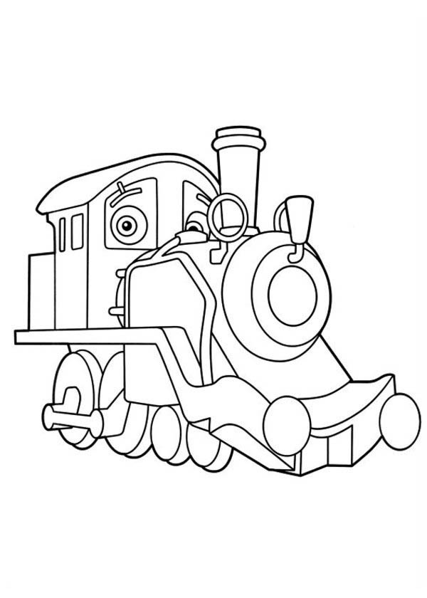600x840 Old Puffer Pete From Chuggington Coloring Page