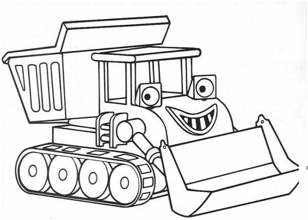 600x428 Smiling Scoop From Chuggington Coloring Page
