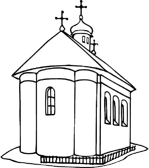 600x675 Church Coloring Pages Best Place To Color