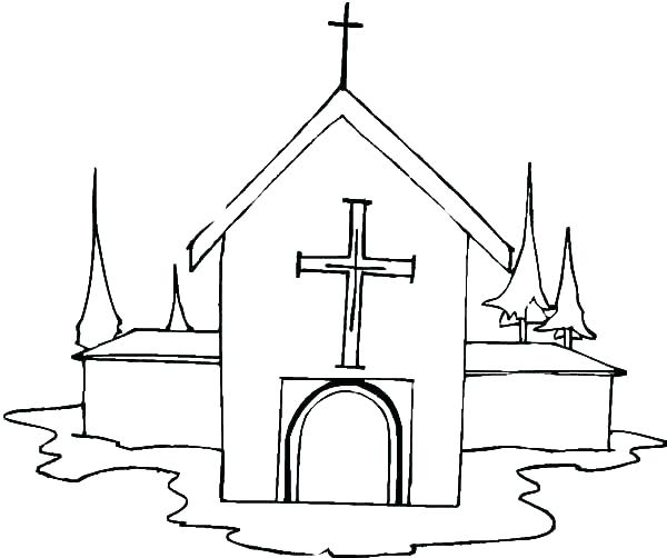 600x502 Coloring Pages For Church Printable Drawings And Coloring Pages