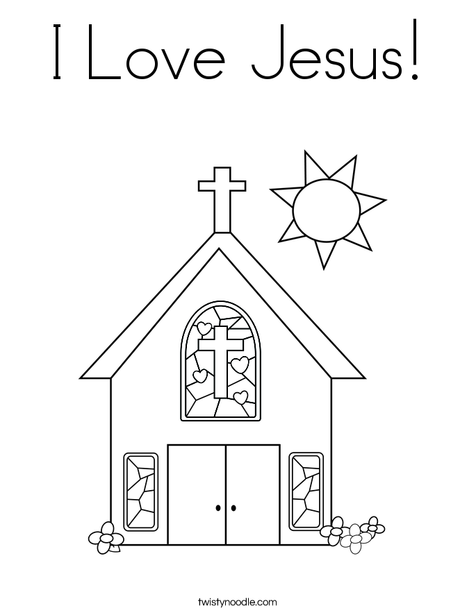 685x886 I Love Jesus Coloring Page