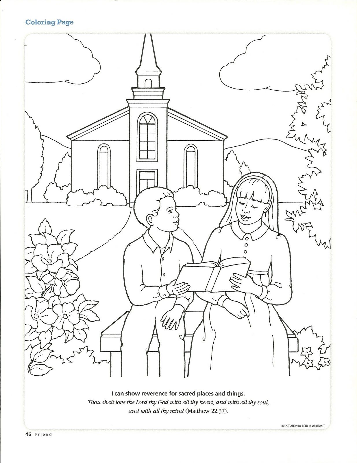1235x1600 Love Lds Church Building Coloring Page Primary Manual Lesson