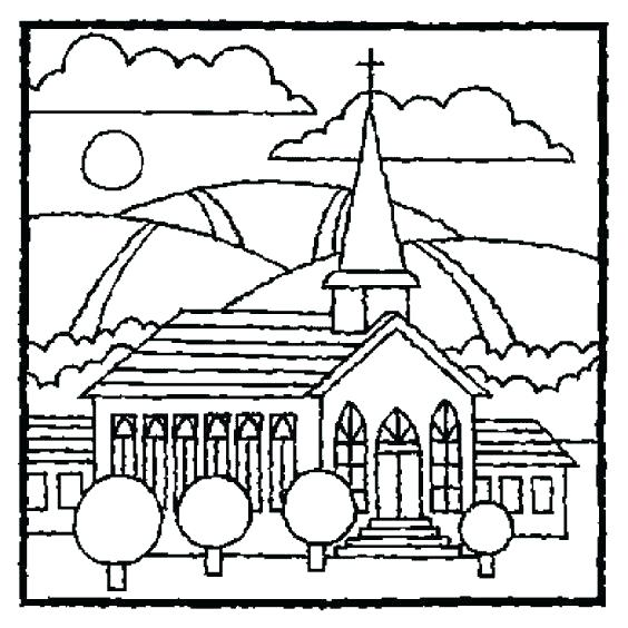 564x564 Church Coloring Page Church Coloring Pages To Print Printable
