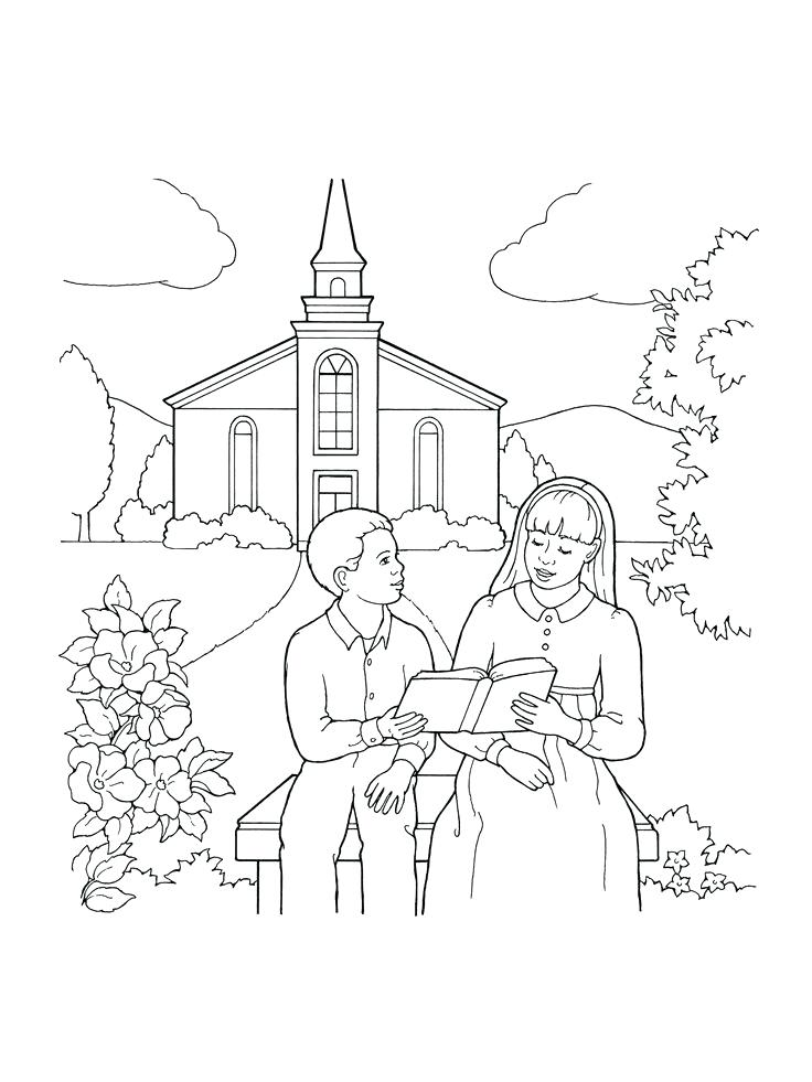 736x981 Church Coloring Pages Coloring Pages Church Buildings Easter