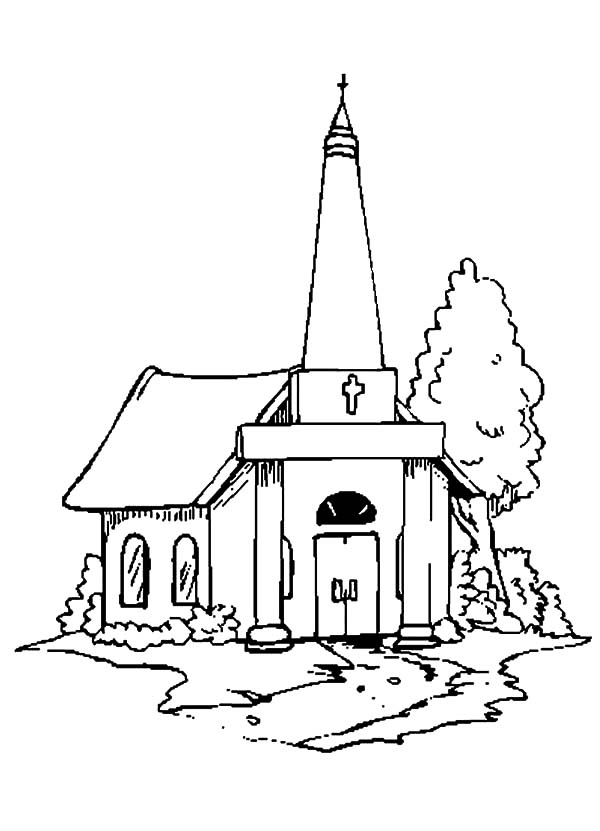 600x831 Drawing Church Coloring Pages Best Place To Color
