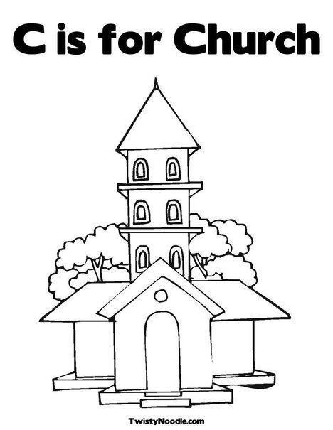 468x605 C Is For Church Coloring Page From Sunday