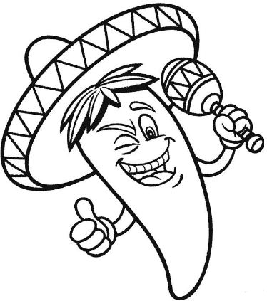 374x423 Cinco De Mayo Coloring Pages Drawing Board Weekly