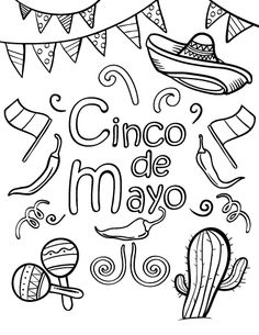 The best free Fiesta coloring page images. Download from 139 ...