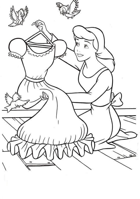 Cinderealla Coloring Pages