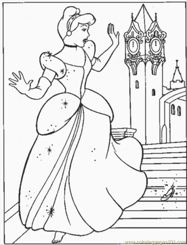 Cinderella 2015 Coloring Pages At Getdrawings Com Free For
