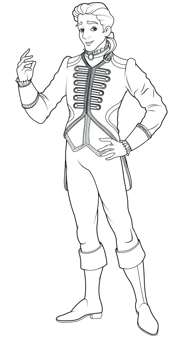 590x1086 Cinderella Prince Charming Coloring Pages Prince Charming
