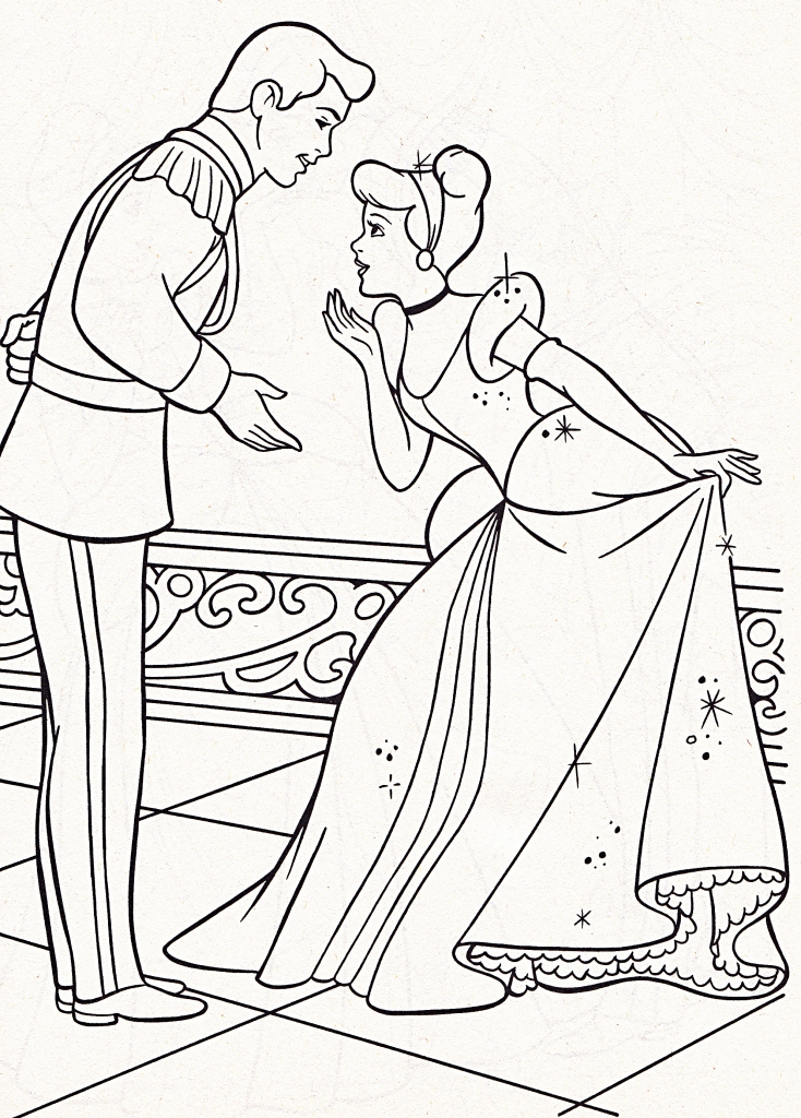The Best Free Cinderella Coloring Page Images Download From 1170