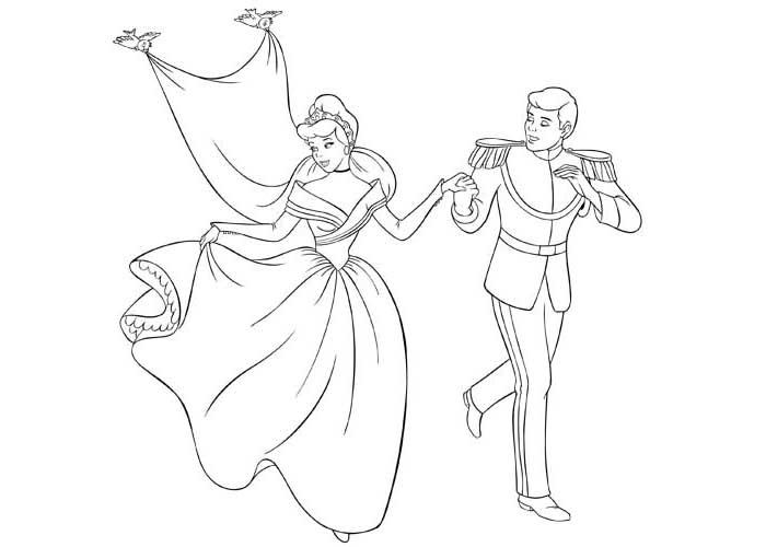 700x500 Cinderella Prince Colouring Pages Gekimoe Cinderella