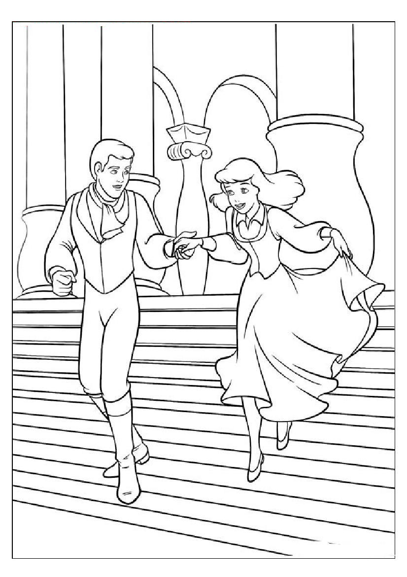 826x1169 Cinderella Coloring Page Royalty Free Baney And Friends Coloring