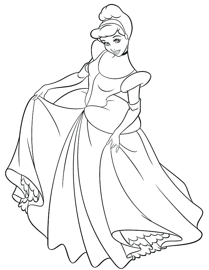 670x867 Cinderella Coloring Pages Free Carriage Coloring Page Image Free