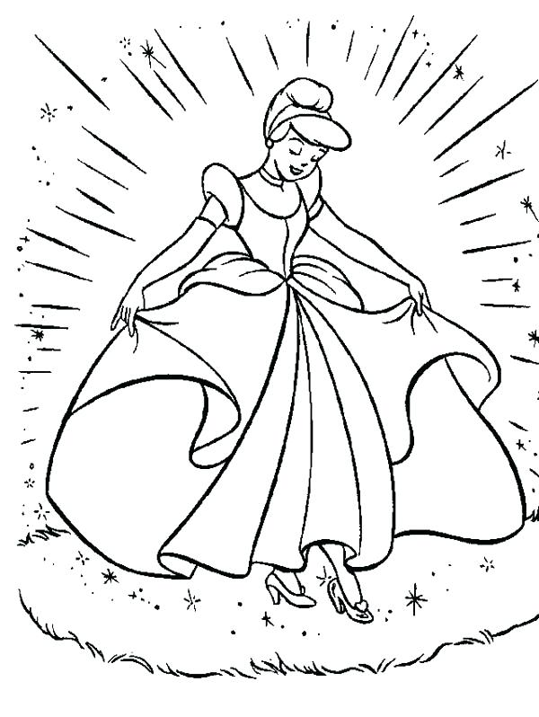 600x798 Cinderella Coloring Pages Online Majestic Coach Ball Coloring Page
