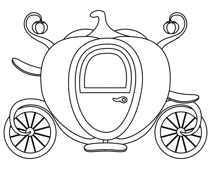 800x640 Cinderella Pumpkin Coach Coloring Pages Mice Mouse Carriage