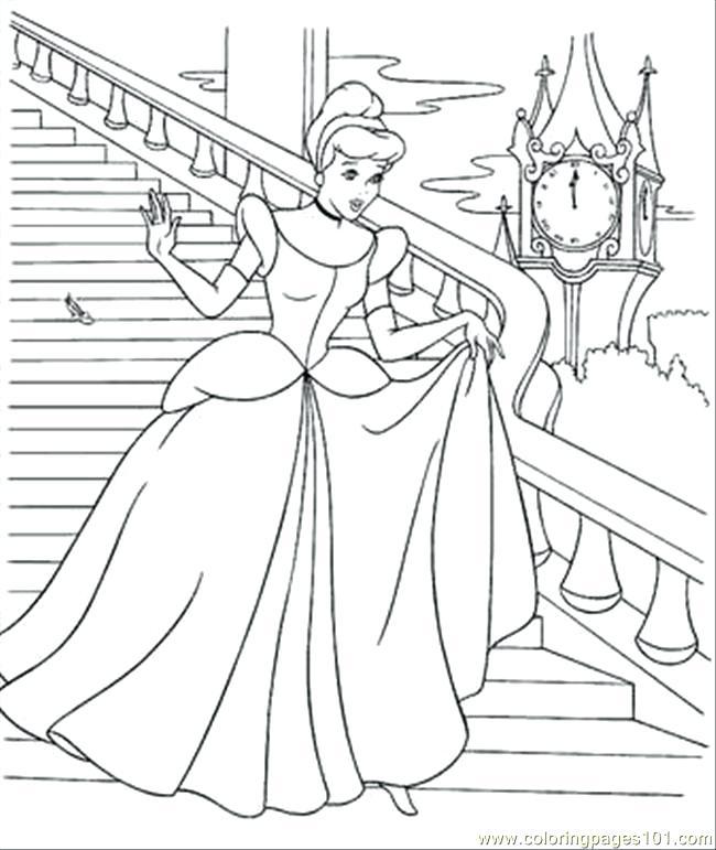 650x771 Disney Cinderella Coloring Pages Coloring Page Disney Princess