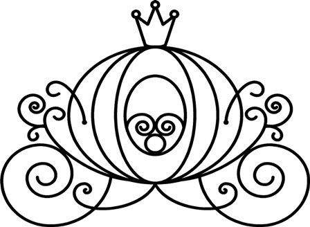 448x328 Princess Coloring Pages Cinderella Carriage Coloring Page