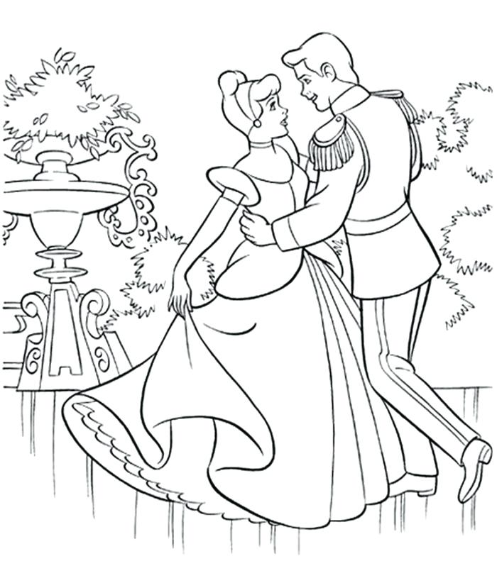 700x791 Carriage Coloring Pages Dancing With Prince In The Garden Coloring