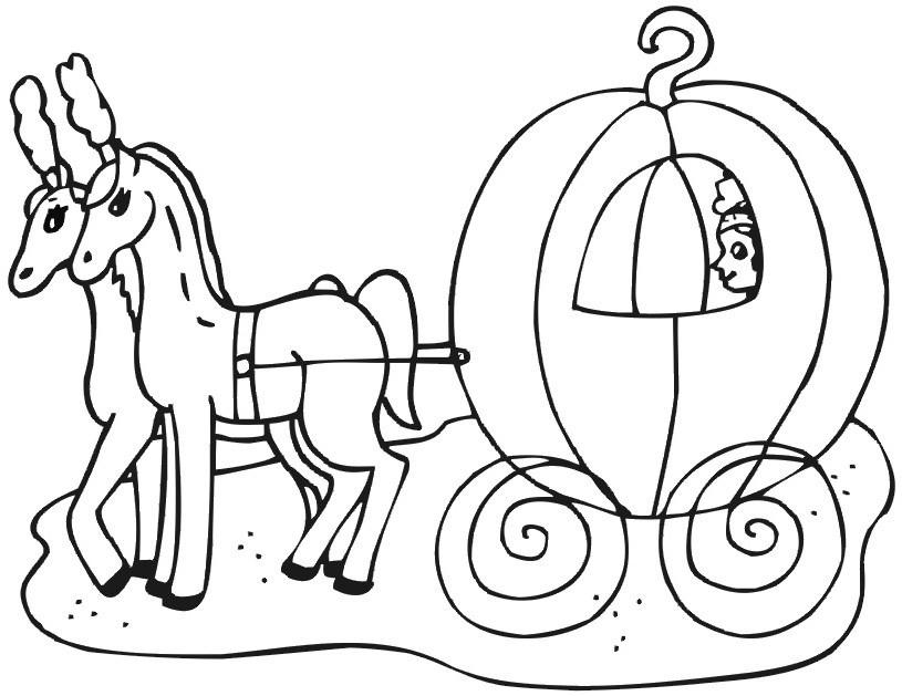 815x629 Cinderella Carriage Coloring Page
