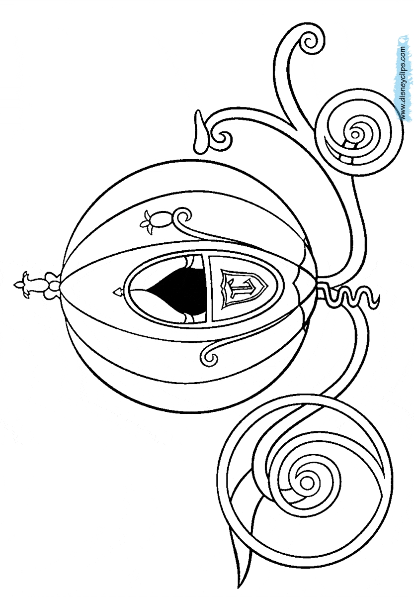 833x1200 Cinderella Coach Coloring Pages To Print Free Coloring Sheets