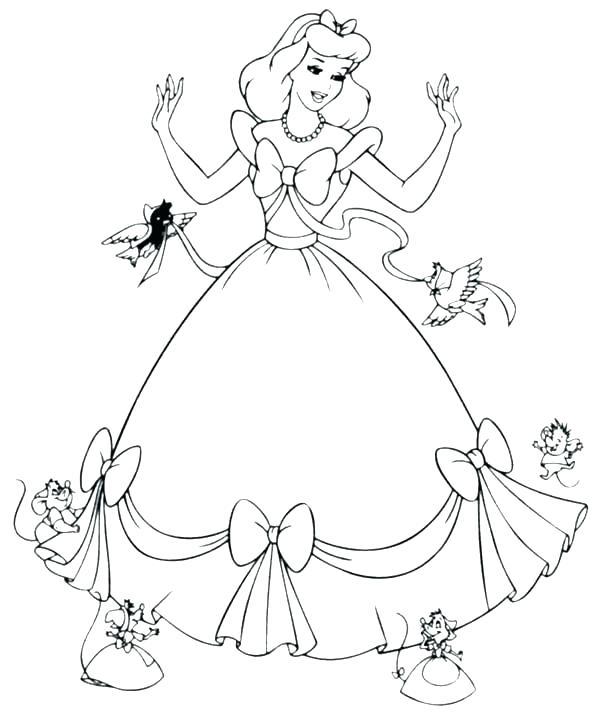 600x715 Cinderella Coloring Pages Cinderella Coloring Pages Pdf
