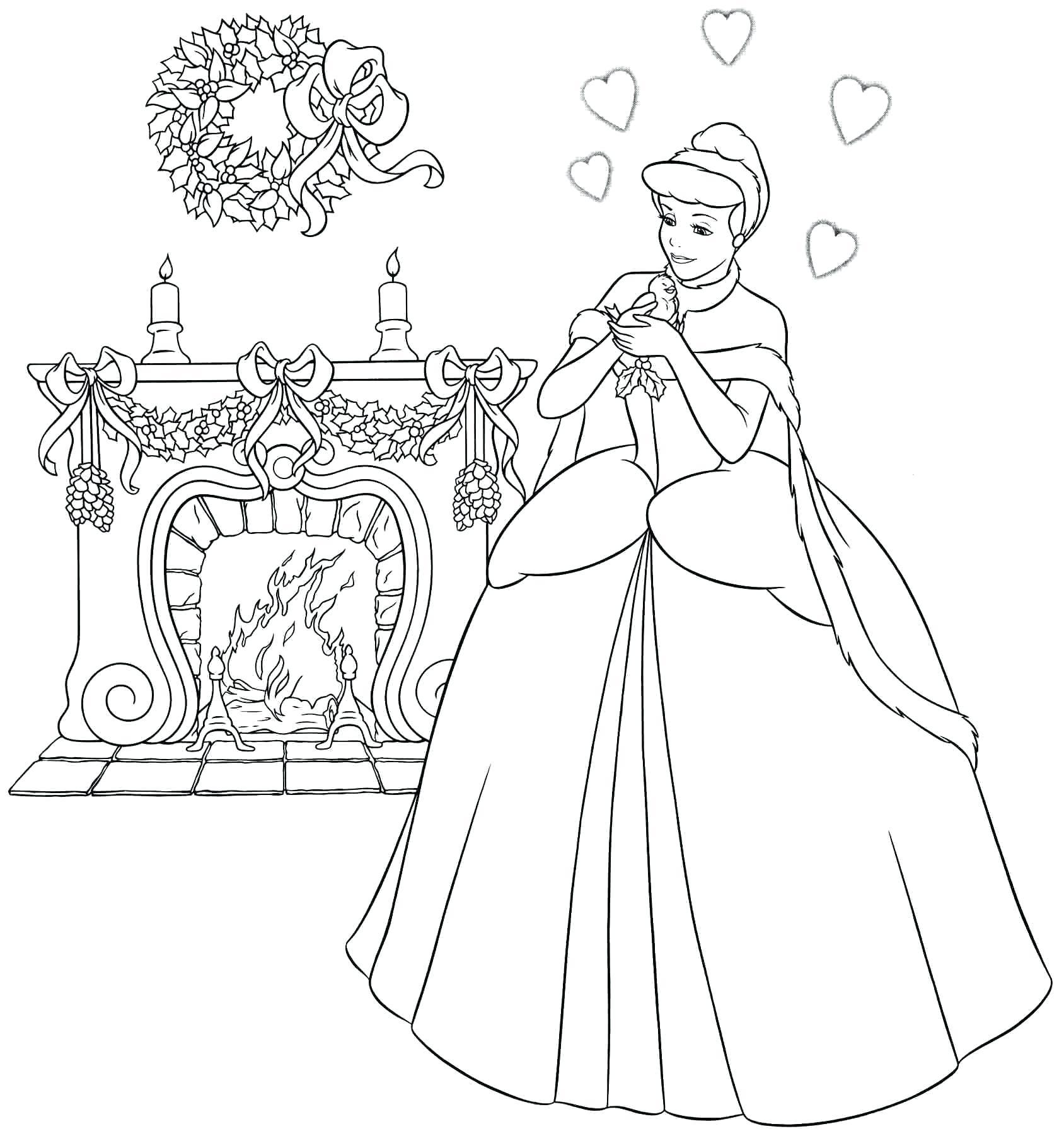 Cinderella Disney Coloring Pages At GetDrawings