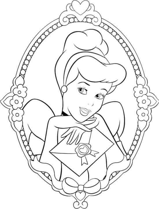 550x725 Free Printable Cinderella Coloring Pages