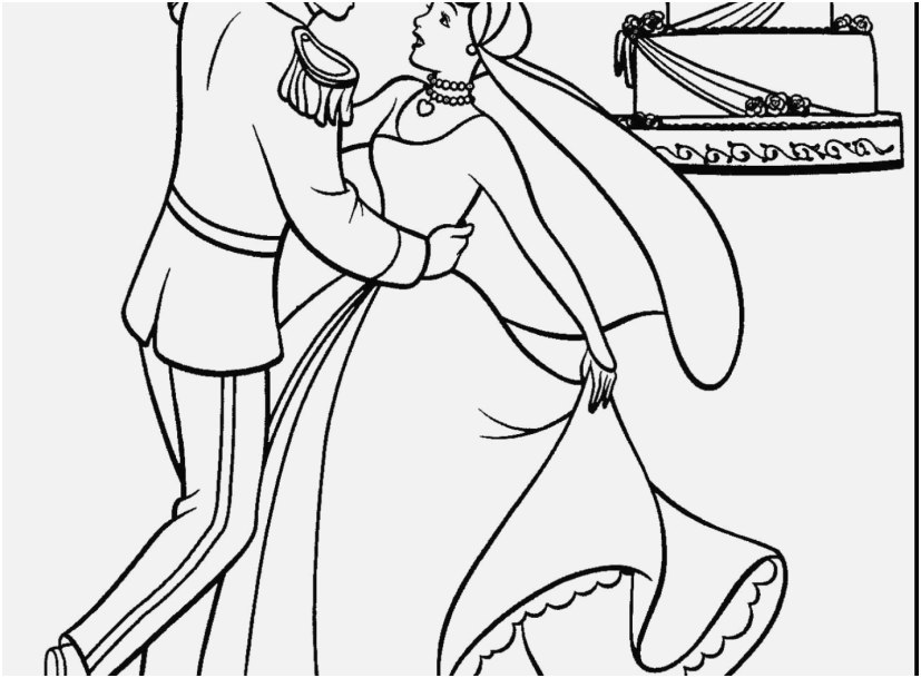 827x609 Coloring Pages Cinderella Pics Imagination Cinderella And Prince