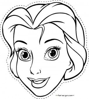 305x338 Disney Princess Cinderella Face Masks Colorin In Template