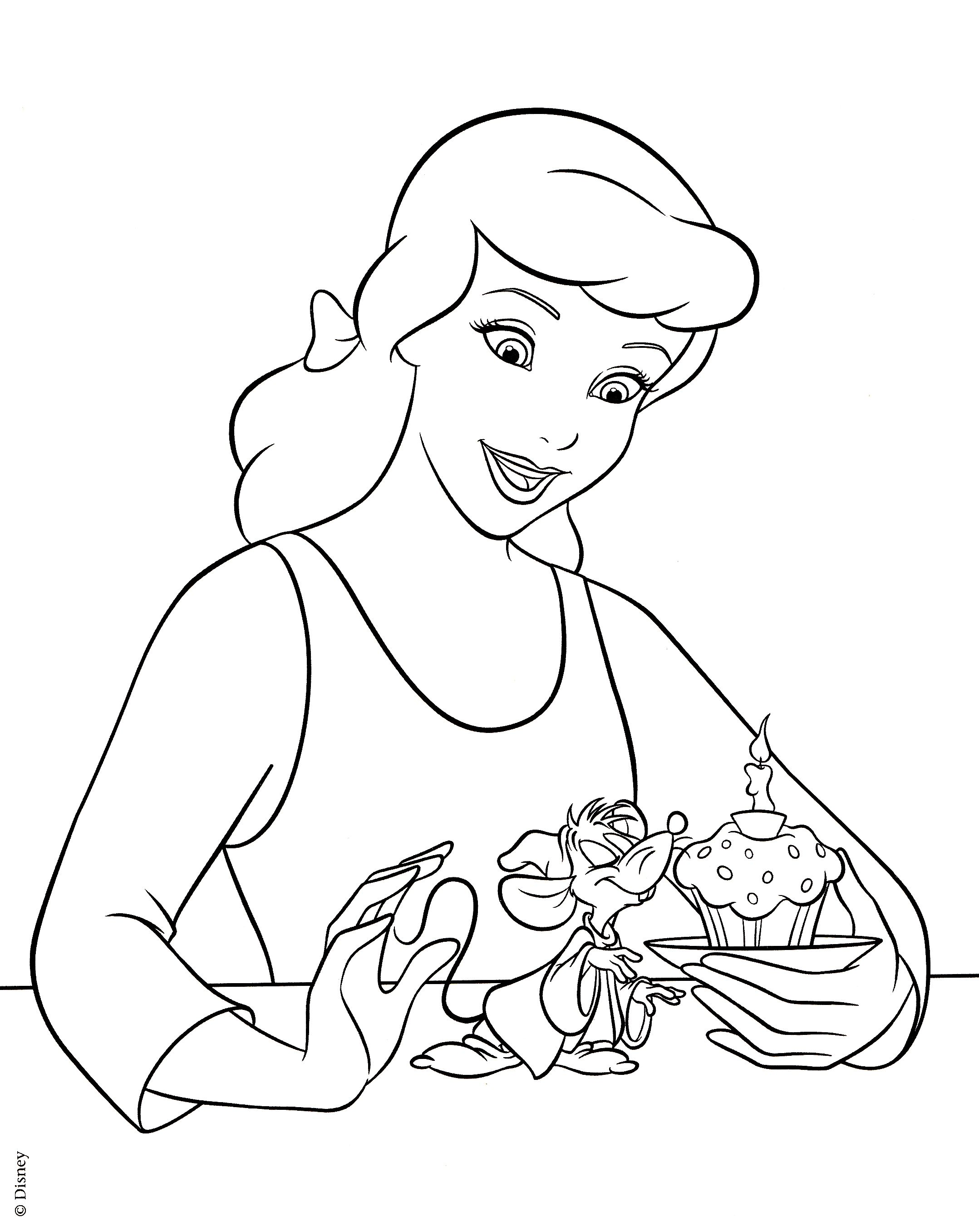 2157x2713 Gallery For Gt Disney Princess Coloring Pages Cinderell