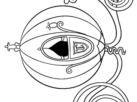 440x330 Cinderella Carriage Coloring Page,  Cinderella Carriage