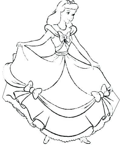 396x478 Cinderella Coloring Pages Disney