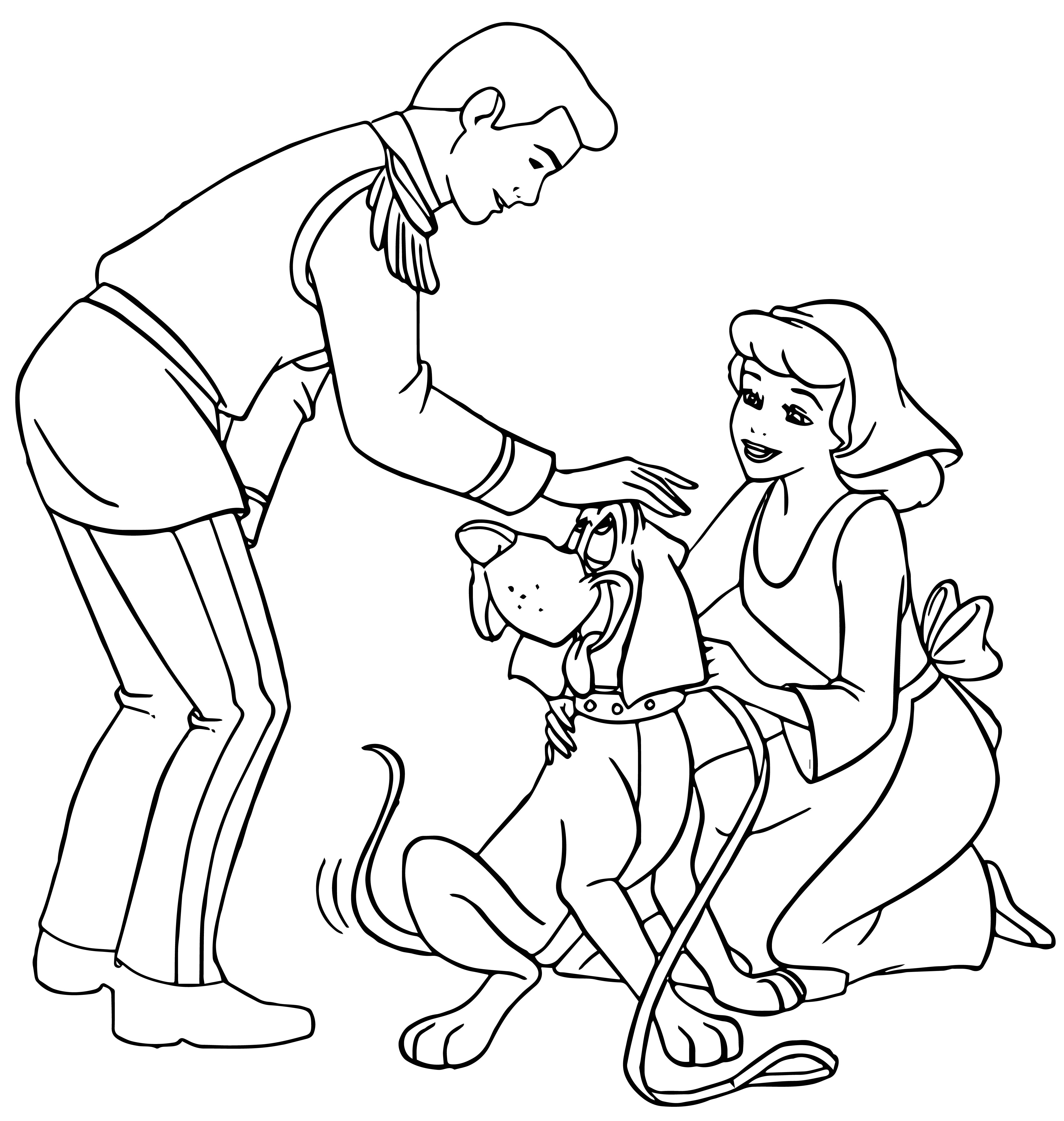 4284x4513 Cinderella And Prince Charming And Dog Coloring Pages Wecoloringpage