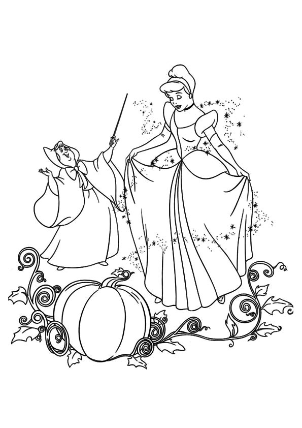 595x842 Cinderella Coloring Sheets For Kids